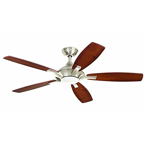 Brushed Nickel Decorator (Home Decorators Petersford 52 In. Brushed Nickel LED Ceiling Fan)