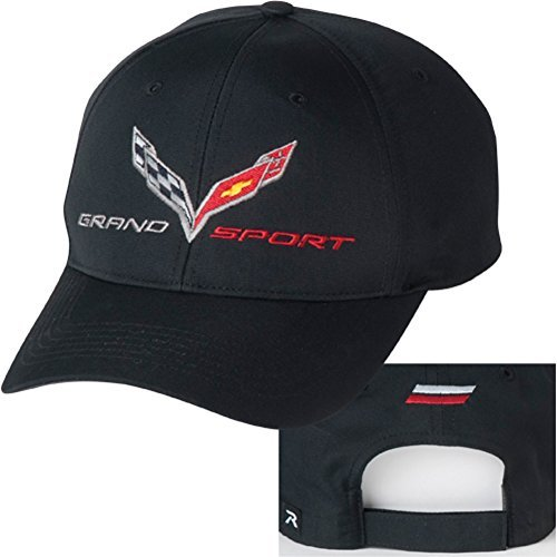 C7 Corvette Grand Sport Logo Black Hat