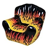 Rhode Island Novelty Inflatable Flame Chair With Comfortable Armrests And Backrest - Perfect For Children's Bedrooms