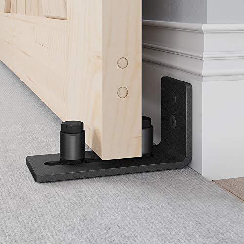 EaseLife Sliding Barn Door Bottom Floor Guide,Adjustable Roller,Wall Mount System,Flush Flat Bottom Design,2 Assemble…