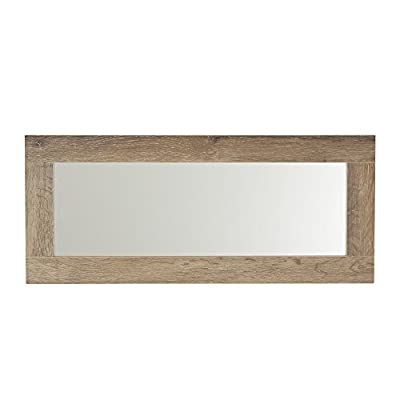Household Essentials 8078-1 Ashwood Rectangular Wall Mirror - WALL MIRROR DECOR with 24.75  x 7.75  mirror and 2.3  distressed frame LIGHTWEIGHT: mirror only weighs 6 lbs CAN BE HUNG vertically or horizontally (attach triangle corner mounts before hanging) - mirrors-bedroom-decor, bedroom-decor, bedroom - 410am1xcYFL. SS400  -