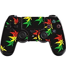 the grafix studio Weed Leaf Playstation 4 (Ps4) Controller Sticker / Skin / Decal / Ps36