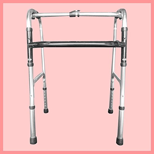 Walker Aluminum Alloy Folding Old Four Feet Walking Medical Equipment Walker Is Adjustable by jiaminmin