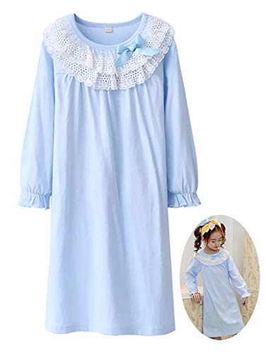 9797dc3cfb Galleon - Zegoo Princess Nightie Nightdress Kids Nightwear Size 6-7 Years
