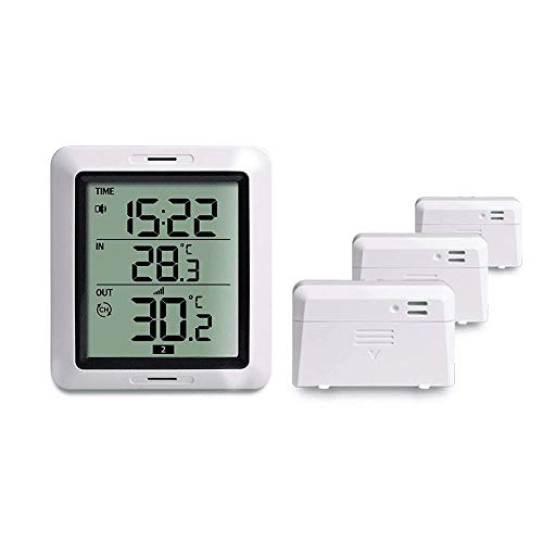 ECOWITT WH0281A Wireless Indoor Outdoor Thermometer Digital Temperature Monitor with 3 Remote Sensors (Wireless Remote Sensor Thermometer)