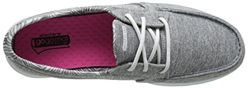 Boat Shoe Performance The Charcoal Flagship Women's Go On On Heather Slip Skechers Aqzgx8nx