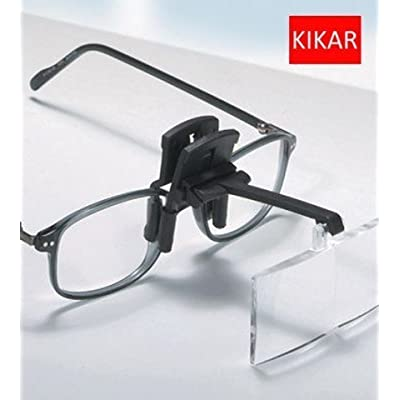 KIKAR Clip on Magnifier with 4 Interchangable lenses, Hard Case: Office Products