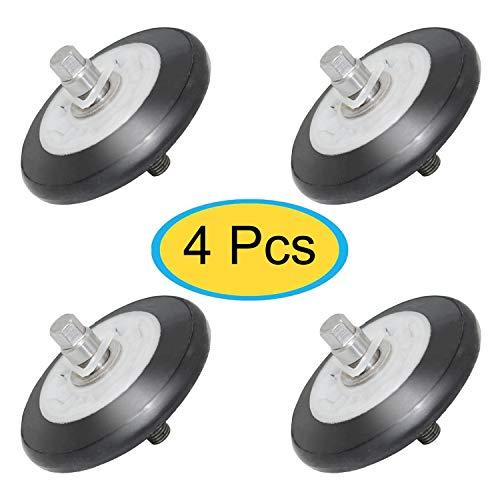YEECHUN 4581EL2002C Dryer Drum Roller Assembly for LG, Kenmore, GE - Replacement Parts 4581EL2002A, 4581EL2002B, 4581EL2002D, 4581EL2002E, 4581EL3001F - 4 Pack