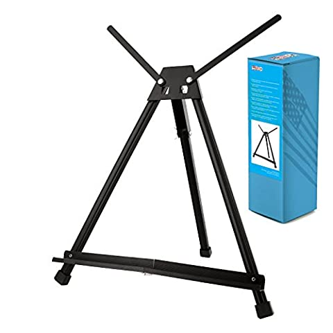 US Art Supply Table Top Aluminum Tri-Pod Artist & Display Easel (Large - Double Arm) (Aluminum Painters Easel)