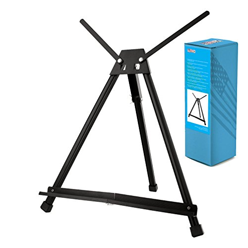 Display Pod - US Art Supply Table Top Aluminum Tri-Pod Artist & Display Easel (Large - Double Arm)
