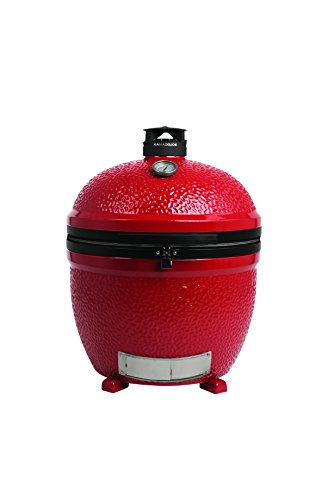 Firebox Vent Standard Free (Kamado Joe BJ24NRHC Big Joe II Stand-Alone Kamado Charcoal Grill, Blaze Red)
