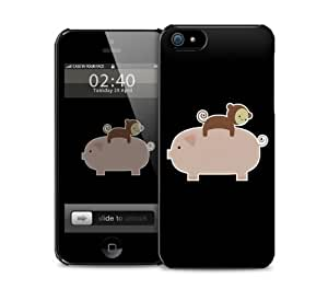 Baby Monkey Riding On A Pig iPhone 5 / 5S protective case