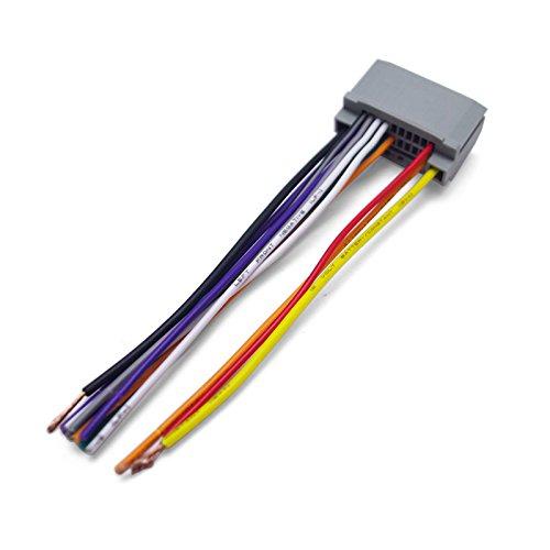 FEELDO Car Audio Stereo Wiring Harness Adapter Plug For Jeep Wrangler/Compass OEM Factory Radio CD/DVD