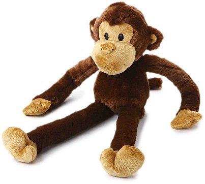 Multipet Swingin Safari Monkey 22-Inch Large Plush Dog Toy with Extra Long Arms and Legs with Squeakers