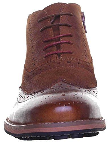 Justin Reece Bruno - Zapatos de cordones de Piel para hombre, color Marrón, talla 47