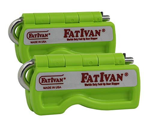 The Original Fat Ivan Fold Up Doorstop Wedge with Magnet - Green (2 -