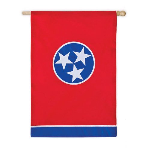 Evergreen Applique Tennessee State House Flag, 29 x 44 inches