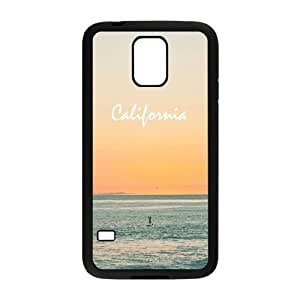 California Beach Design Hard Back Protection Cover Case For Samsung Galaxy S5 TPU