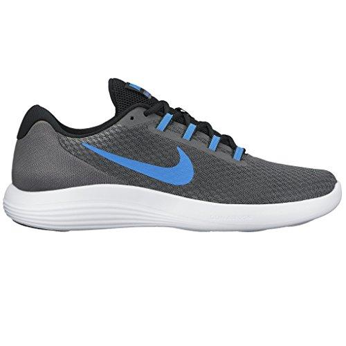 Nike Mænds Lunarconverge Løbesko Mørkegrå / Ay Blå / Hvid / Sort IioILlAR