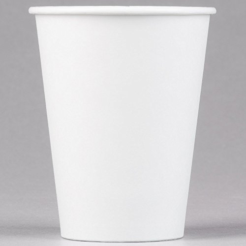 Dart Solo 412WN-2050 12 oz. White Poly Paper Hot Cup - 1000/Case by Dart Solo