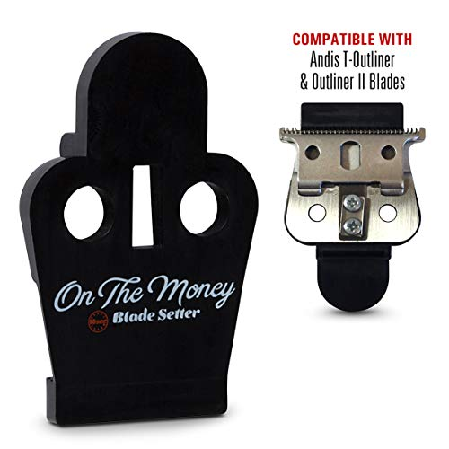 ON THE MONEY 10 Sec Blade Setter (Compatible with Andis T-Outliner & Outliner II Blades) -