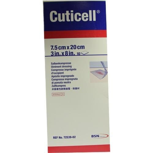 BSN Medical 7253902 CUTICEL Ointment Dressing, 3'' x 8'' Size (Pack of 10)