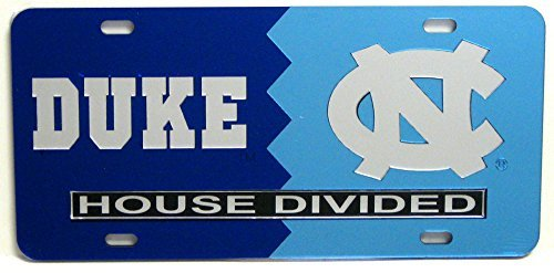 Duke / North Carolina House Divided License Plate Duke House Divided