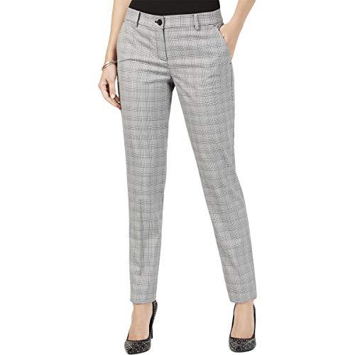Michael Michael Kors Womens Petites Miranda Houndstooth Dress Pants B/W 12P ()