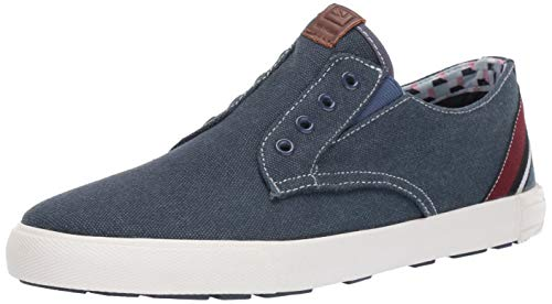 Ben Sherman Men's Pete Laceless Sneaker, Navy Canvas, 10 M US