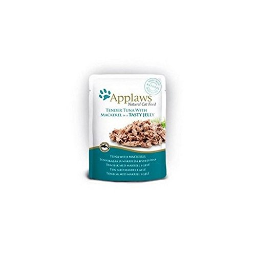 Applaws Tuna Wholemeat with Mackeral in Jelly Cat Pouch (70g)