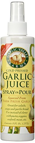 Garlic Juice Spray or Pour 2 Pack - (8 Oz Bottles) by Garlic Valley (Valley Garlic)