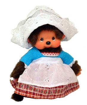 Holland Costumes Girl (Monchhichi World Costume Holland Girl Plush Doll)