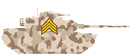 Tank Desert Camouflage - Tank Wall Decal, Desert Brown Camo