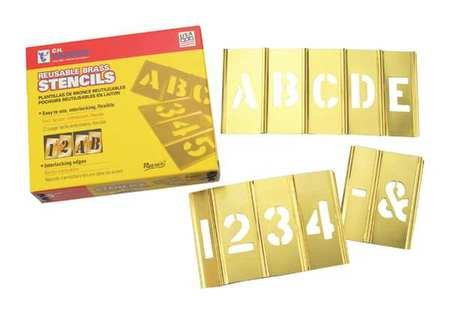 Brass Stencil Letter & Number Sets - 5'' 45pc letter & numberset