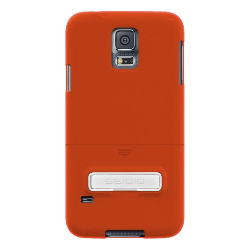 Seidio Innocase Surface Case - Seidio SURFACE Case with Metal Kickstand for Samsung Galaxy S5 - Retail Packaging - Orange