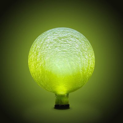 Achla Designs Solar Gazing Globe, 10-Inch, Lemon Drop Frosted by Achla