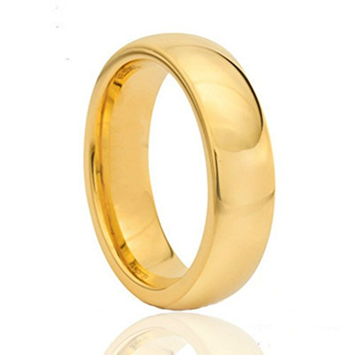 18k Gold 6mm Wide Ring-Eternal Ring Of Love Between Men And (18k Mens Ring)