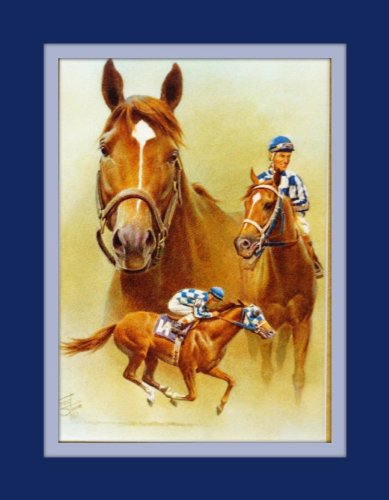 11x14 Secretariat Triple Crown 1973 Fred Stone Double