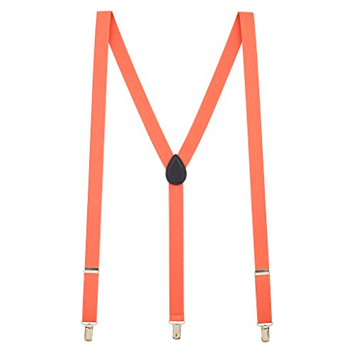 Suspender Store Mens Coral Suspenders - 1 Inch Wide - Store Coral