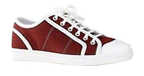 Femme Sneaker À Bordeaux Rouge De Unbekannt Chaussures Lacets Ville Pour P4wTw6O