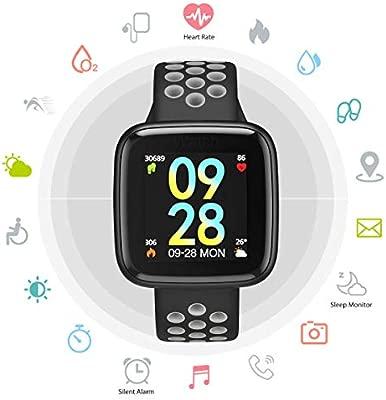 TDOR Oferta Cyber Monday Smartwatch Hombre Android e iOS Reloj Inteligente Mujer, Color Rojo