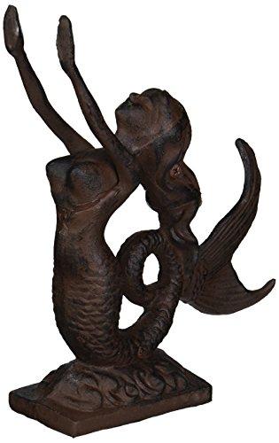 """Rustic Iron Mermaid Door Stop 9"""" - Mermaid Decor - Nautical Decor - Beach Decor - Mermaid Decoration from Moby Dick Specialties"""