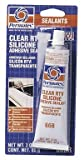 Permatex 80050 3 Oz Clear Silicone Adhesive Sealant
