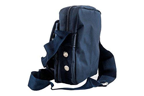Tracolla GIANMARCO VENTURI blu uomo borsello borsa bandoliera F496