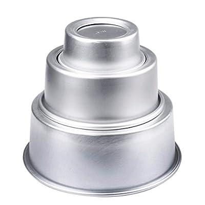 Mikey Store 4/6/8'' Aluminum Alloy Non-stick Round Cake Baking Mould Pan Bakeware Tool SAP