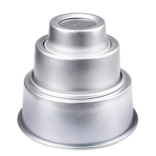4' Half Pop (Fenleo 4'' Aluminum Alloy Non-stick Round Cake Baking Mould Pan Bakeware Tool SAP)