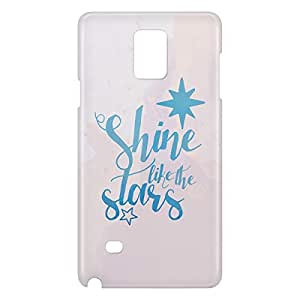 Loud Universe Galaxy Note 4 Shine Like Stars Print 3D Wrap Around Case - White