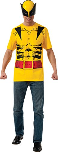 Rubie's Men's Marvel Universe Wolverine Adult Costume Tee and Eye Mask, Multi, X-Large