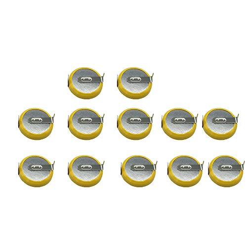 CR2032 Batteries with Tabs, Popmall12 Pack CR2032 tabs Replacement Save Battery for Pokemon Yellow, Game Boy, GBA, and Color, NES, SNES, and N64 Games (Game Boy Pokemon Yellow)