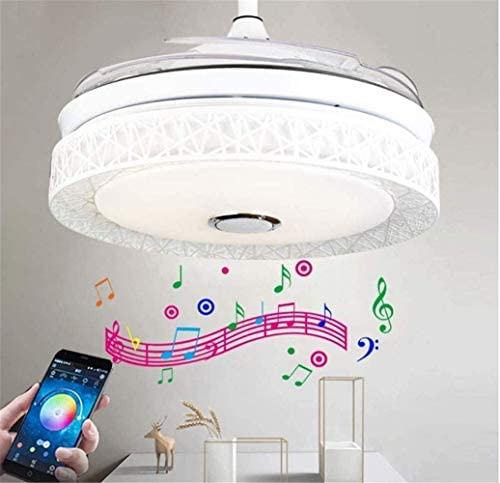 Sweety House 42″Bluetooth Music Ceiling Fan Ceiling Light